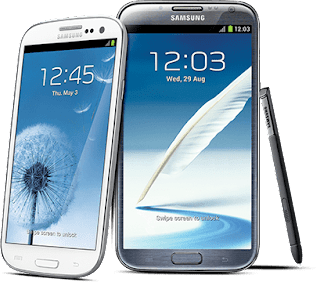 Samsung Galaxy S3 and Note II