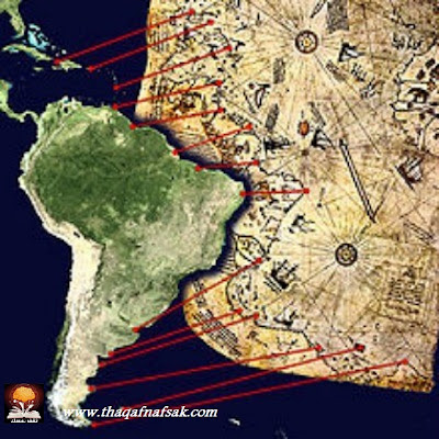 خرائط بيري التي أذهلت العلماء ! 220px-Piri_Reis_map_