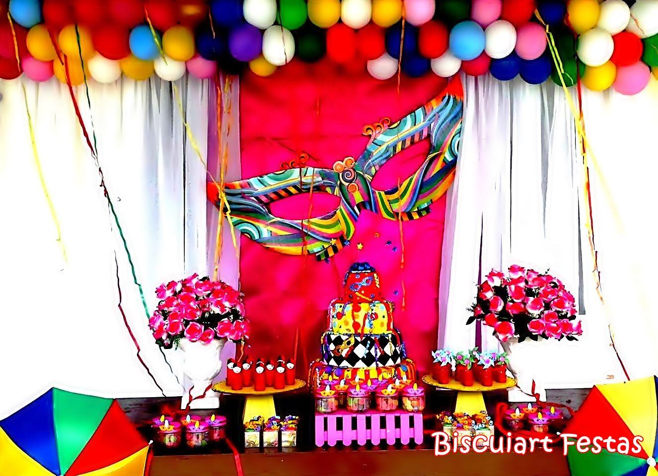 Biscuiart Festas Decoraç u00e3o Carnaval, Festa Carnaval, Aniversário Carnaval -> Decoração De Loja Carnaval