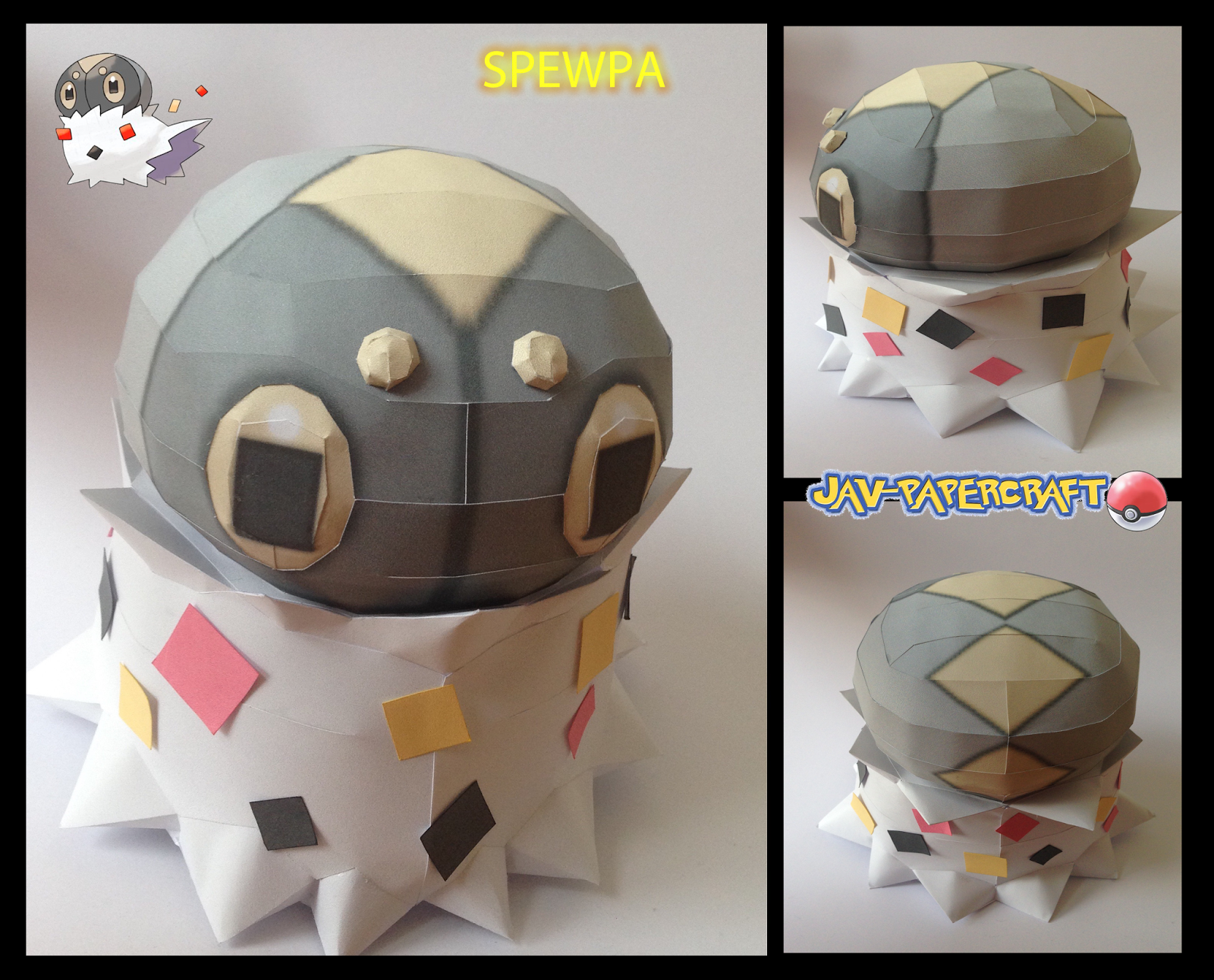 Pokemon Spewpa Papercraft