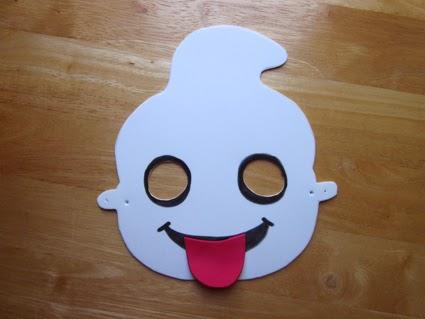 Máscara de fantasma de Goma eva