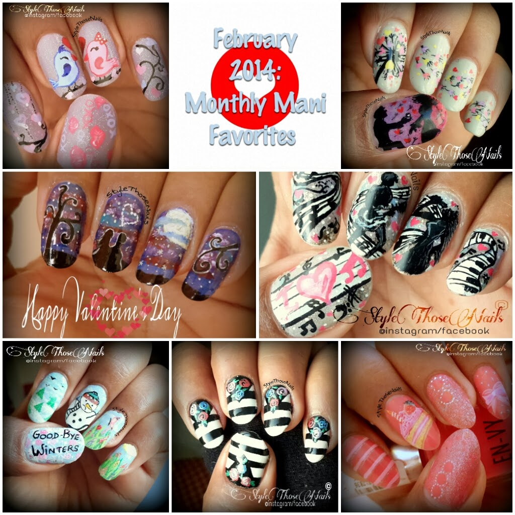 Style Those Nails February Nail Art 2014 Monthlymanifavorites Post