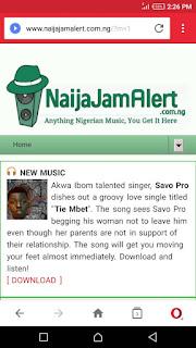 Music promoted on NaijaJamAlert.com.ng