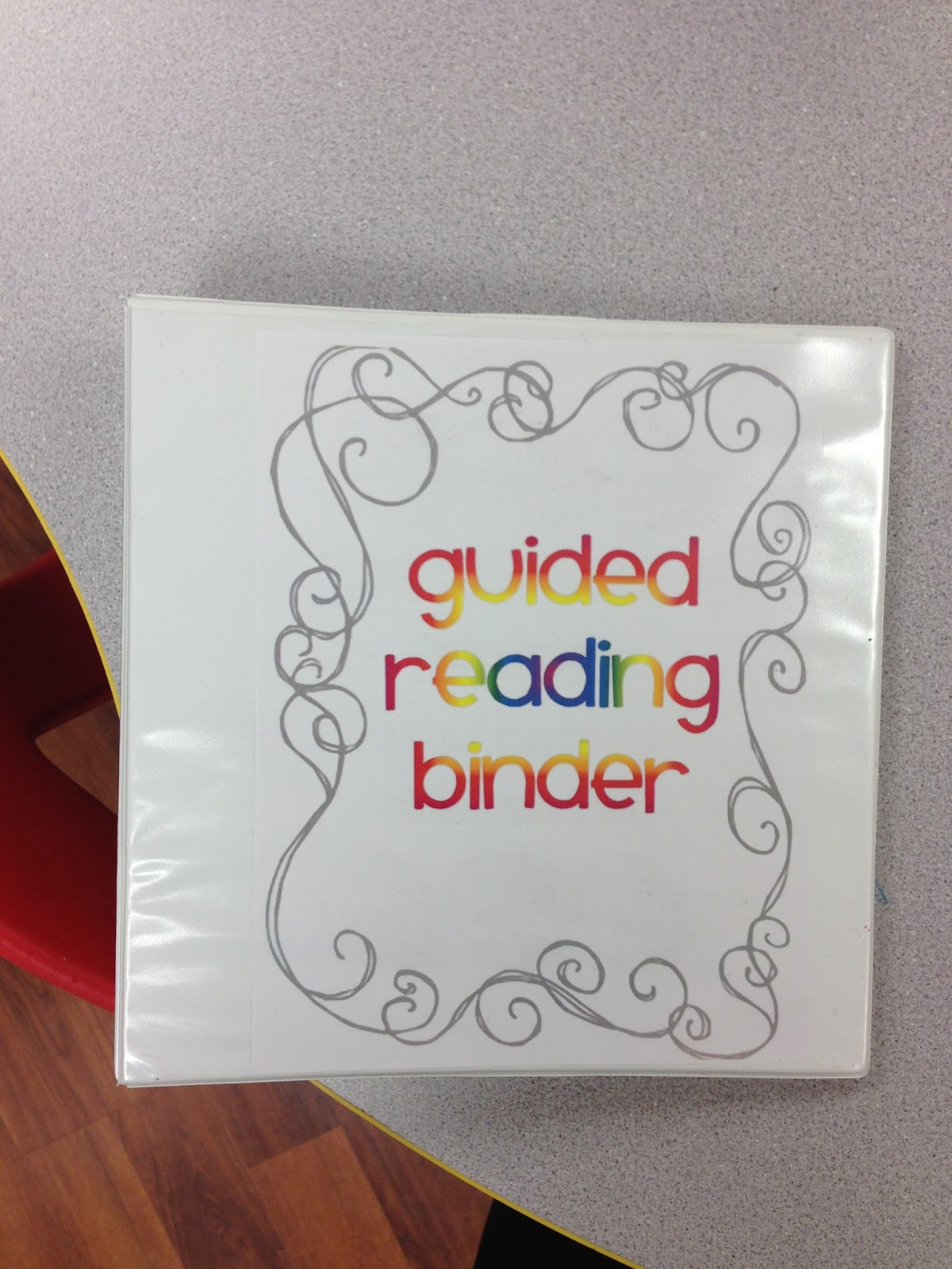 K 3 connection my new guided reading binder for Reading binder cover