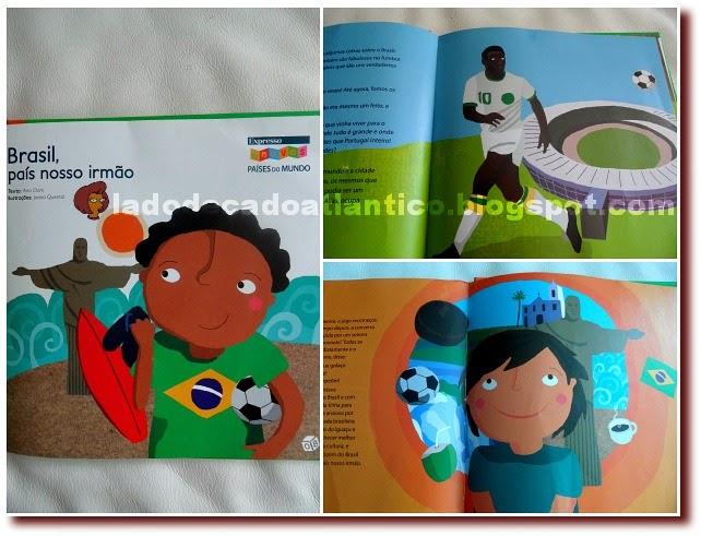 """Imagens do livro infantil """"Brasil, país nosso irmão"""" encartado do jornal português Expresso"""
