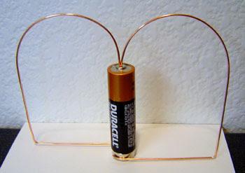 Как сделать самому из батарейки