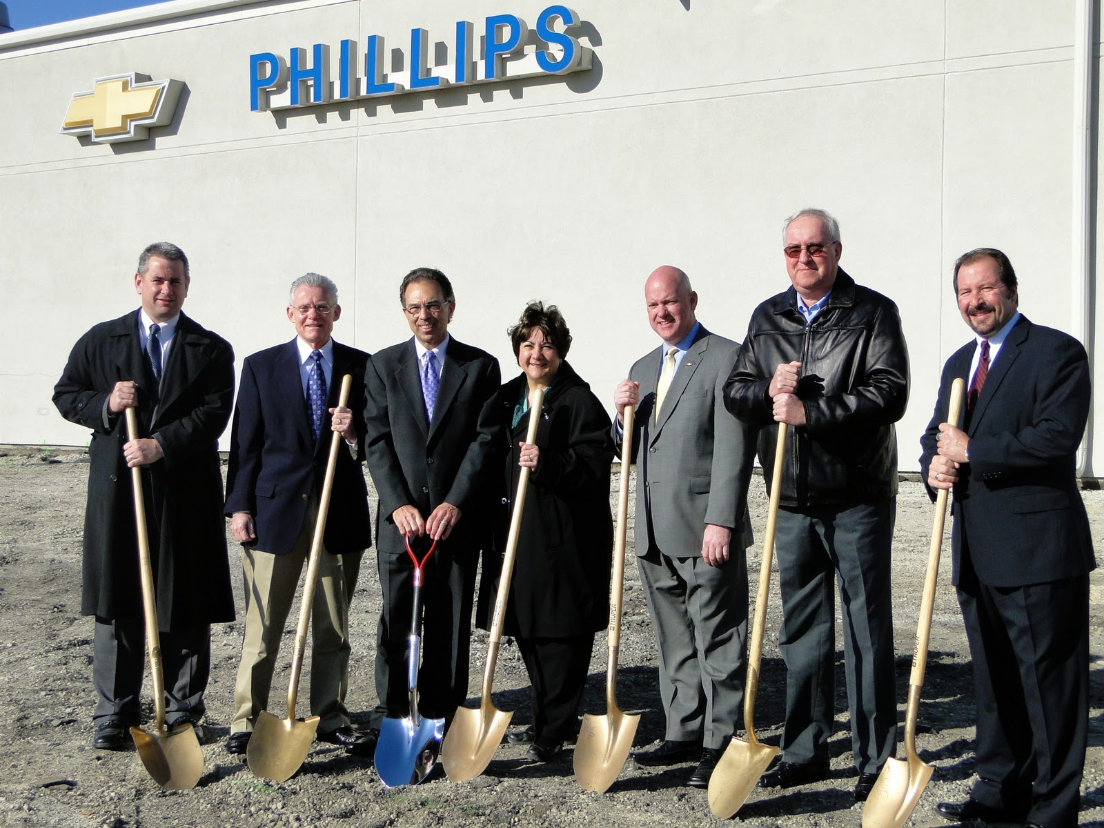(Pictured Left To Right: Frankfort Administrator  Jerry Ducay; Mayor Of  Frankfort  Jim Holland; President Of Phillips Chevrolet  Curtis Pascarella;  ...