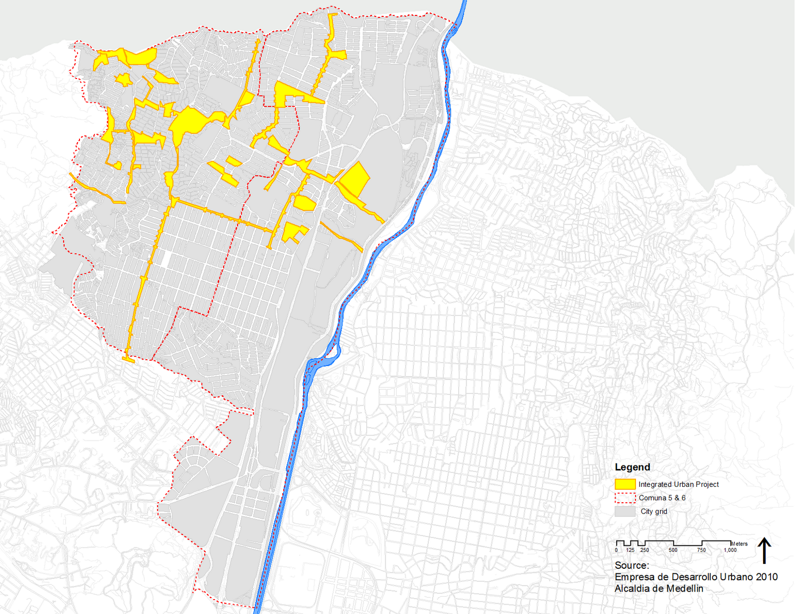 figure 7 integrated urban project iup noroccidental in yellow all areas to be developed as part of the urban upgrading program