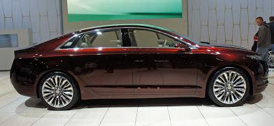 New car in showroom