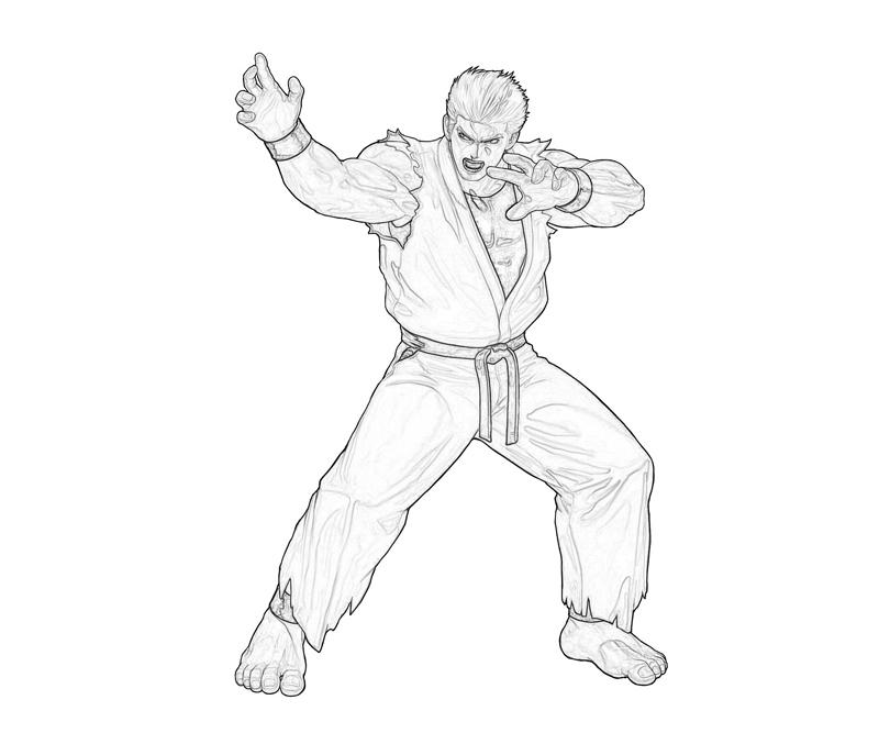 king-of-fighters-ryo-sakazaki-power-coloring-pages