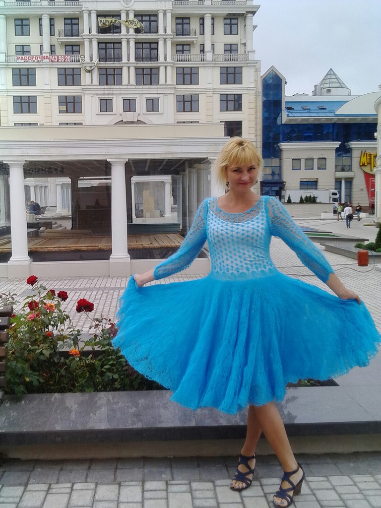 Из юбки связать платье