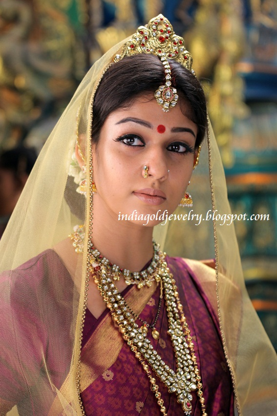 Indian Gold and Diamond Jewellery: Nayanthara in Kundan Jewellery ...
