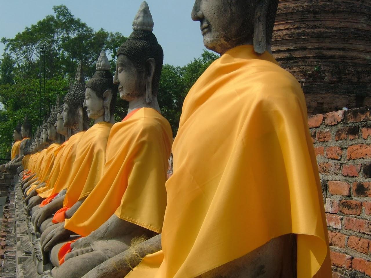 Stone statues of Buddha