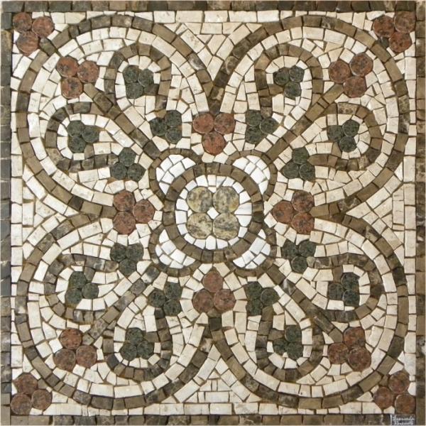 Novos modelos de mandalas em mosaico mosaico leonardo for Mosaico para piso