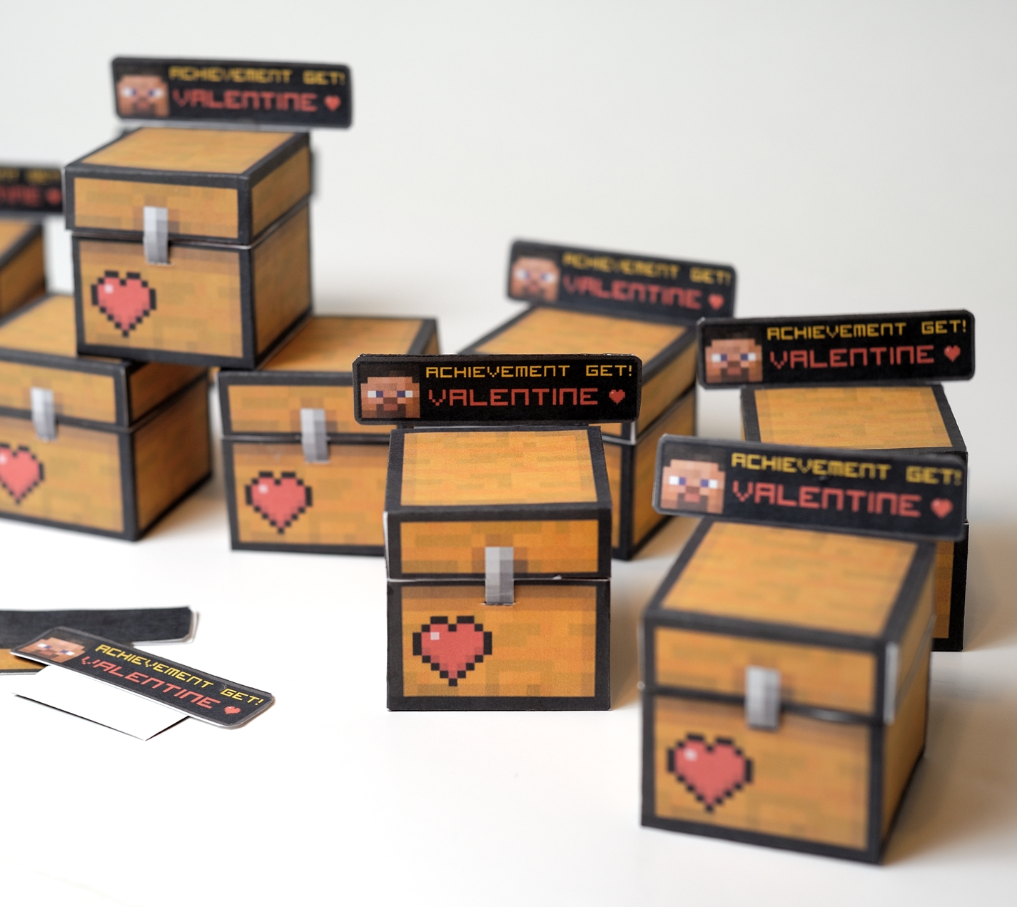 minecraft valentines - Valentines Day Boxes For Boys