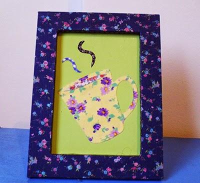 quadro, porta retrato, patchwork, café, decoração, copa, cozinha