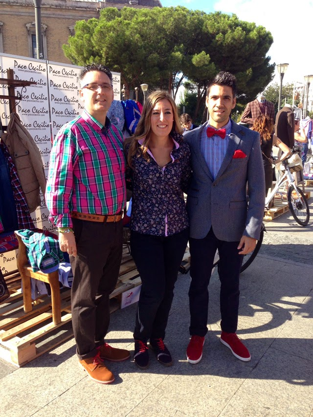 Paco Cecilio pasarela de moda en bici