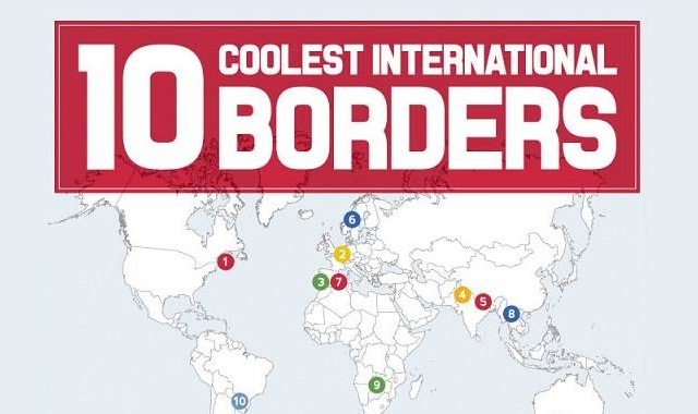 Image: 10 Coolest International Borders #infographic