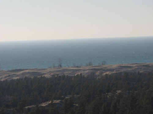 Lake Michigan from dunes