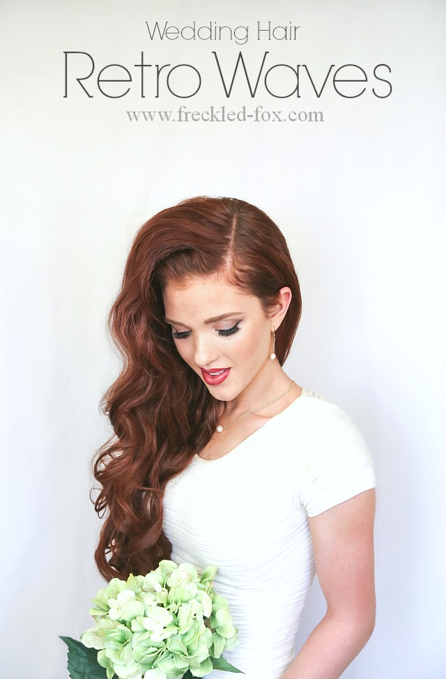The Freckled Fox Wedding Hair Week Retro Waves A Compliment Giveaway
