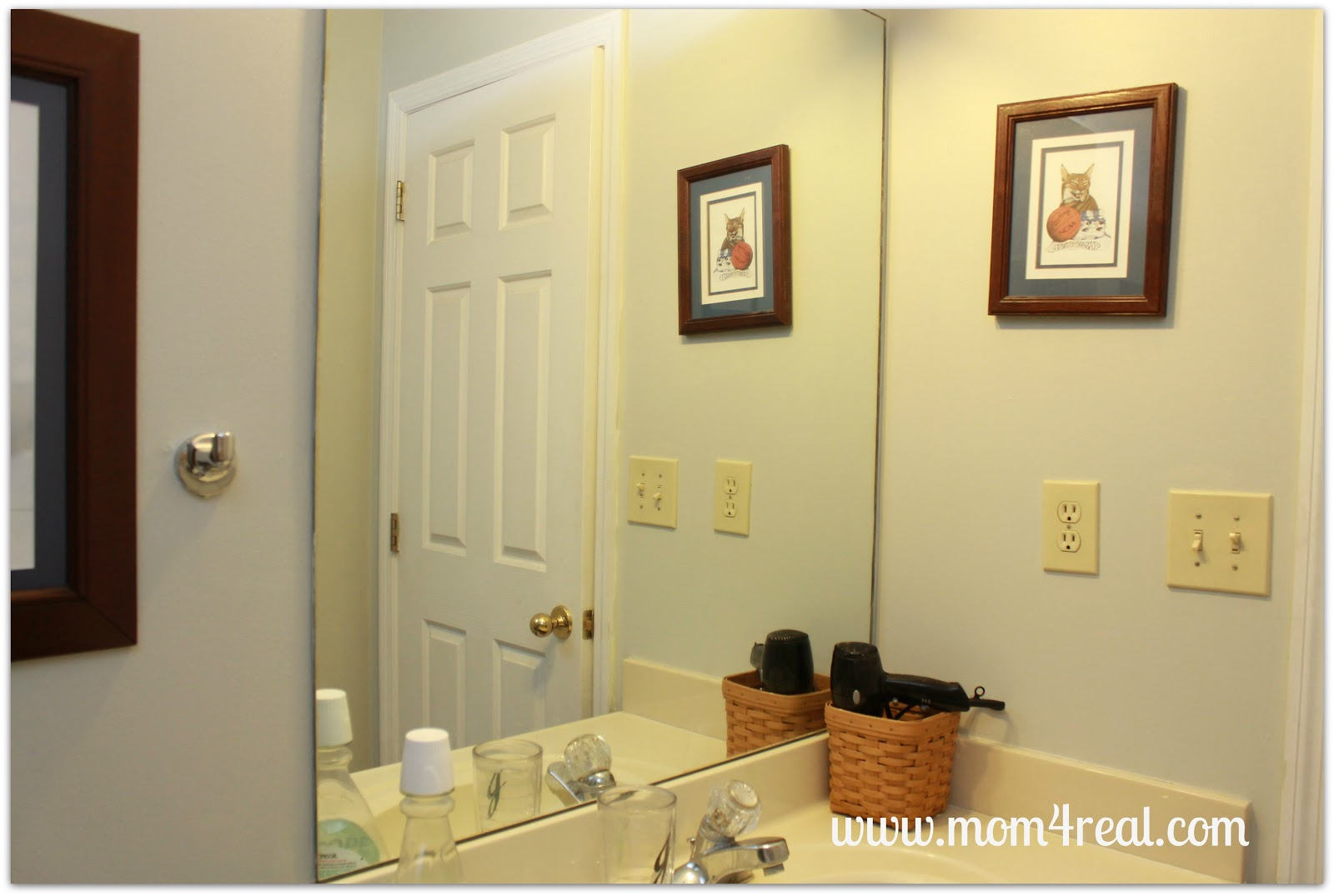 Frame out your builder 39 s grade mirror without mitering for Bathroom builders