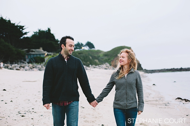 moss beach engagement photos