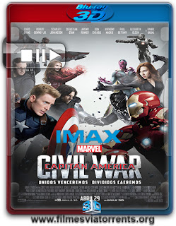 Capitão América: Guerra Civil Torrent – BluRay Rip IMAX 1080p 3D HSBS Dual Áudio 5.1 (2016)