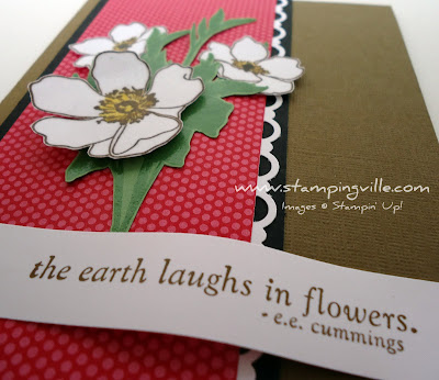 Stampin' Up! Fabulous Florets stamp set with Greeting