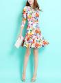 Retro Flare Flounced Dress