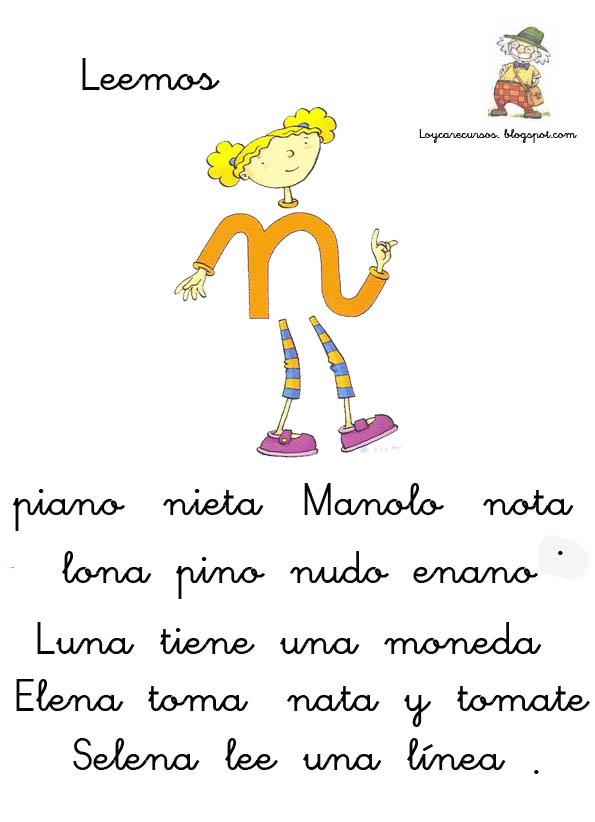 RECURSOS DE EDUCACION INFANTIL: OTRAS HOJAS DE LECTURA