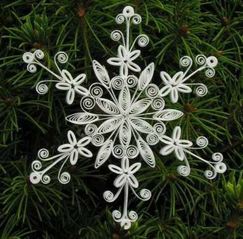 Paper Quilling Christmas Snowflakes