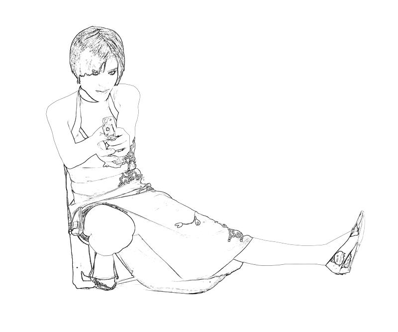 ada wong coloring pages - photo#1