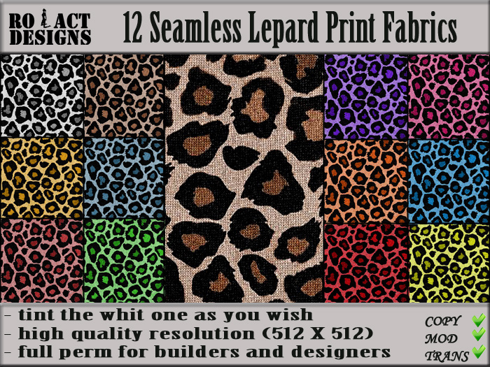 Ro act designs ro act designs 12 seamless leopard print for Designer animal print fabric