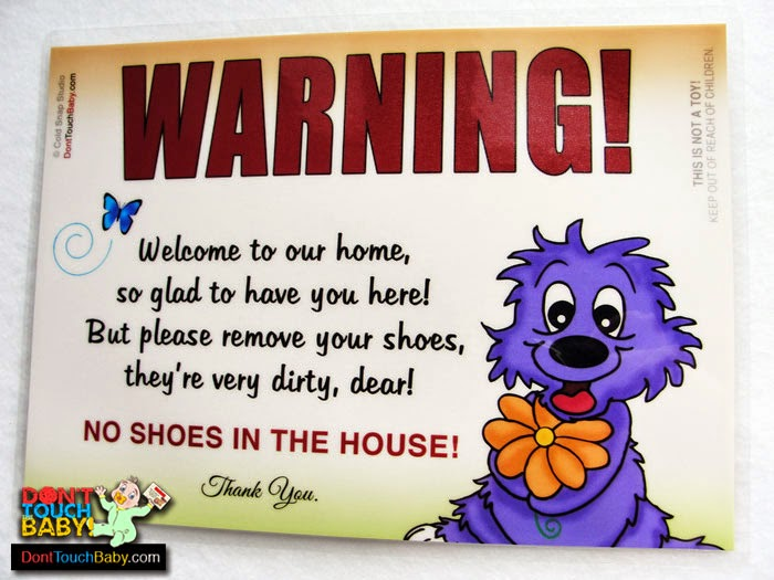 Take Shoes Off Sign