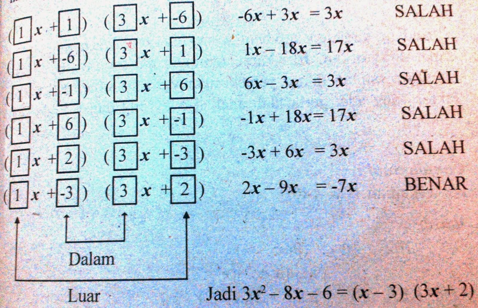pada ilmu matematika jangan disamakan dengan penggunaan kata  Operasi Hitung Pada Bentuk Aljabar