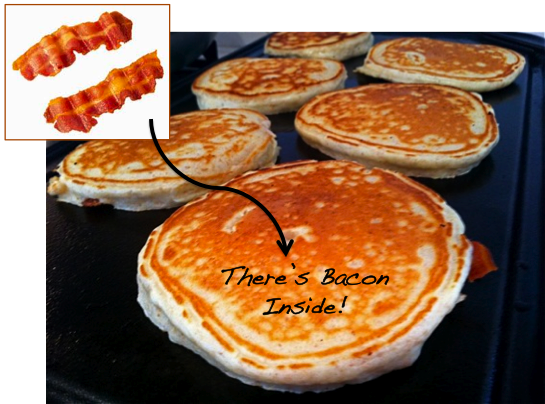 Pardon My Crumbs: Sunday Brunch Series: BACON PANCAKES
