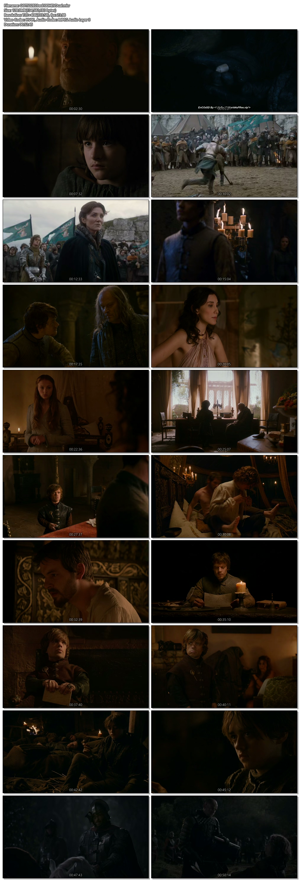 Screenshots Of Hindi Dubbed Show Game of Thrones 2012 Season 02 Episode 03 300MB 720P HD