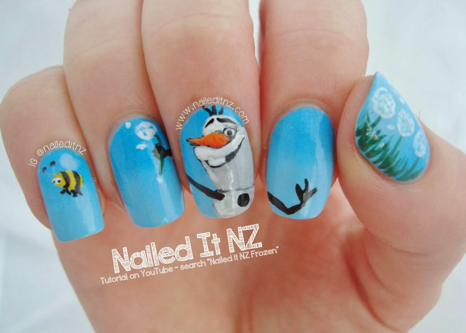 disney nail art 5 frozen little girl nail design ideas