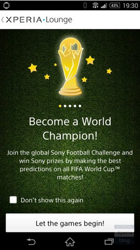 Sony Xperia Z2 is the FIFA World Cup 2014 official phone