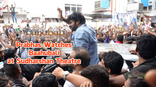 Prabhas Watches Baahubali at Sudharshan Theatre | Watch Video