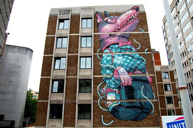 creative cool awesome street art mural around the world