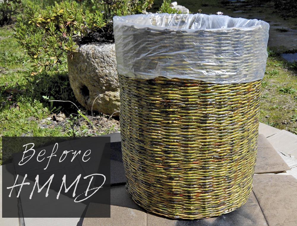 Cómo renovar un cesto by HMMD, Handmademaniadecor. DIY pintar con spray un cesto para ropa sucia. Modernizar un cesto viejo. How to renovate an old basket. DIY spray paint.