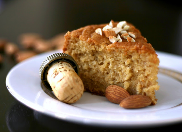 Healthy Rum-Drenched Almond Pound Cake - Desserts with Benefits