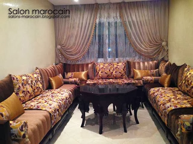 ameublement salon marocain moderne d coration salon marocain moderne 2016. Black Bedroom Furniture Sets. Home Design Ideas