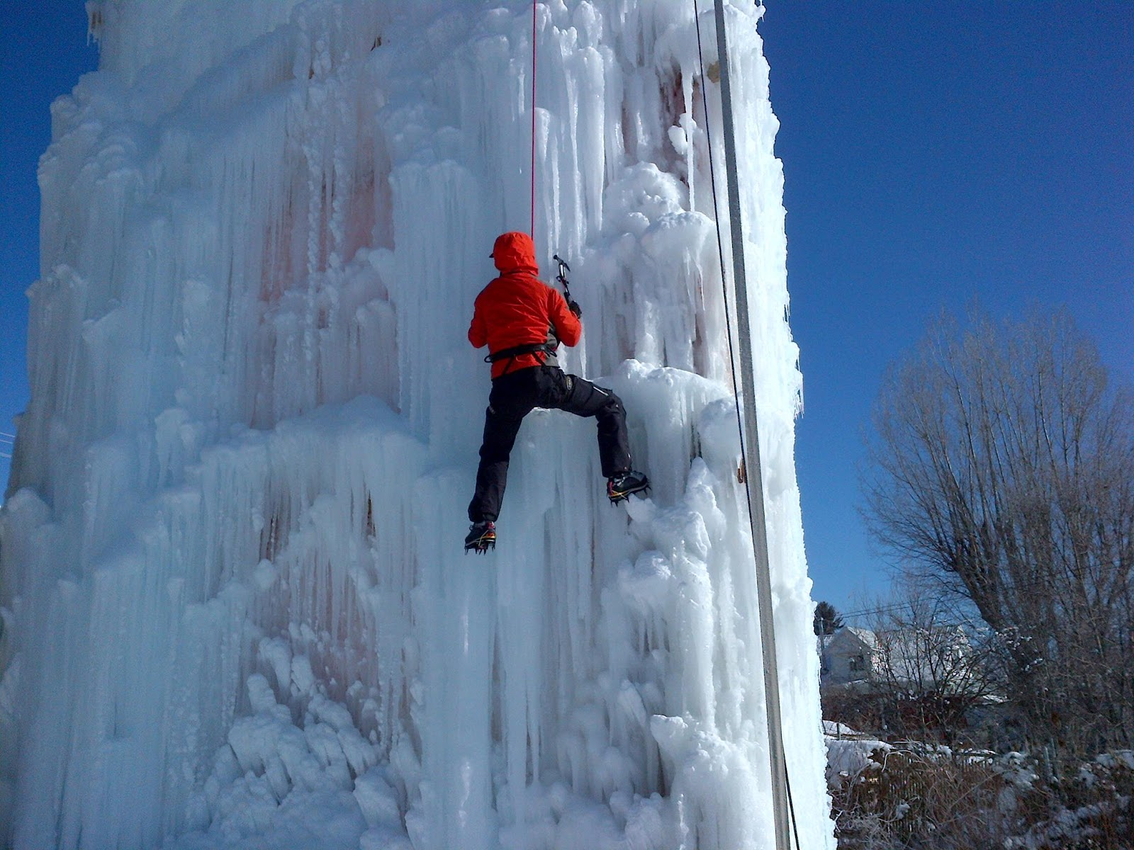enjoy utah 45 foot ice climbing wall now open in midway