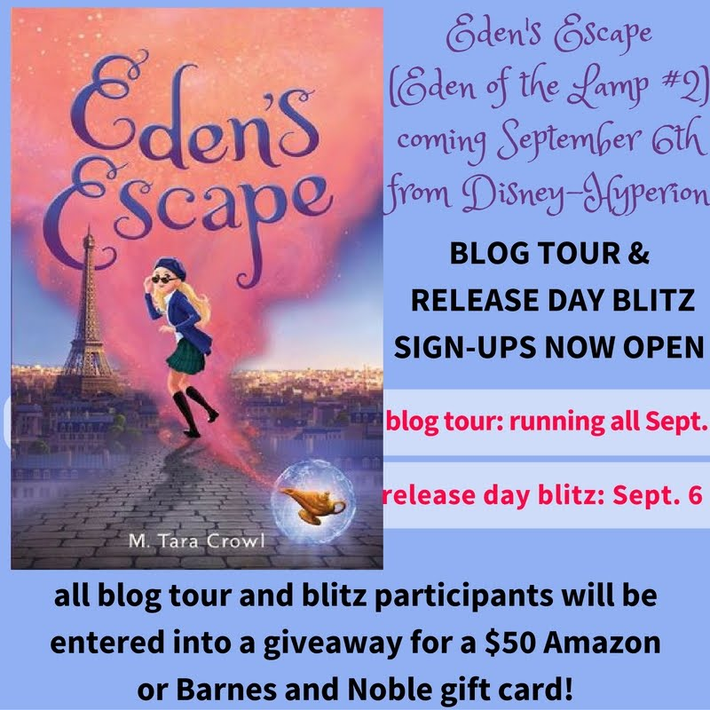 Bloggers: sign-up for the Eden's Escape Blog Tour!