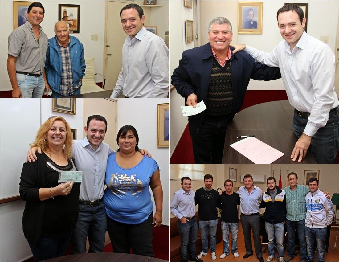 El municipio otorgó 45 mil pesos en ayudas a instituciones y deportistas