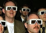 3-D glasses at a 1950s film