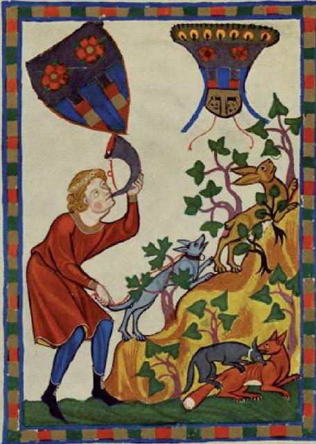 miniatura medieval perros