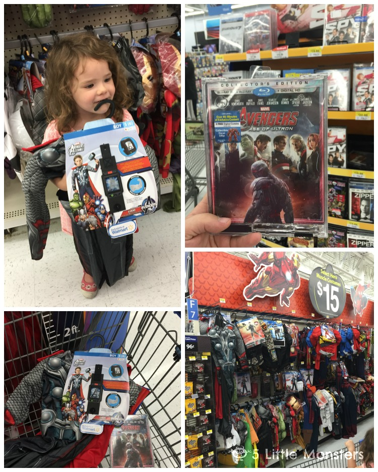 Tutorial for Avengers Trick or Treat Bags, plus costumes and movie from Walmart